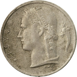 Coin, Belgium, Franc, 1974, EF(40-45), Copper-nickel, KM:142.1