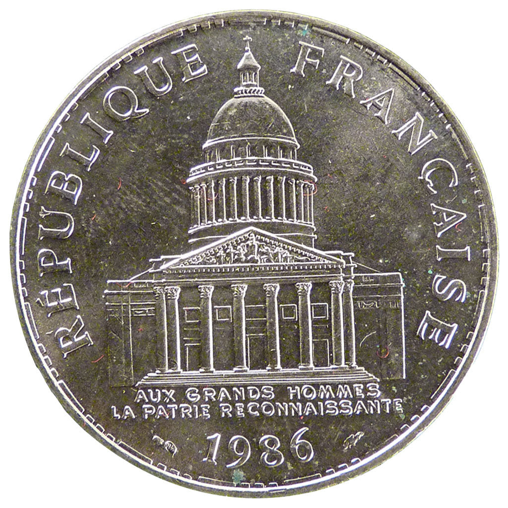 FRANCE, Panthéon, 100 Francs, 1986, Paris, KM #951.1, MS(65-70), Silver, Gadoury