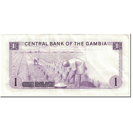 Banknote, The Gambia, 1 Dalasi, 1971-1987, Undated (1971-1981), KM:4f, EF(40-45)