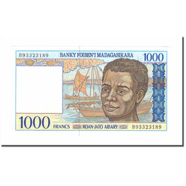 Banknote, Madagascar, 1000 Francs = 200 Ariary, 1994, Undated (1994), KM:76b