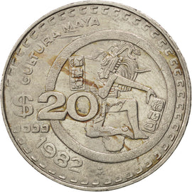 Coin, Mexico, 20 Pesos, 1982, EF(40-45), Copper-nickel, KM:486