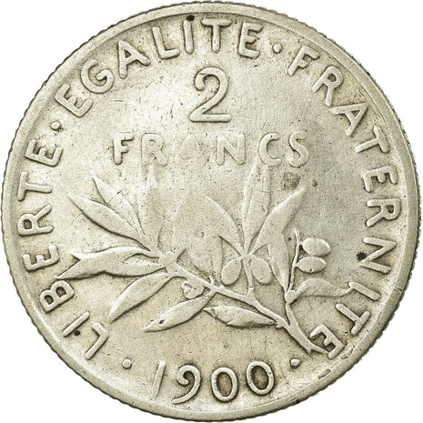 Coin, France, Semeuse, 2 Francs, 1900, Paris, VF(20-25), Silver, Gadoury:532