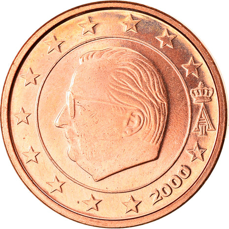 Belgium, Euro Cent, 2000, Brussels, MS(63), Copper Plated Steel, KM:224