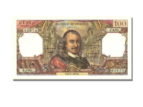 France, 100 Francs, 100 F 1964-1979 ''Corneille'', 1975, KM #149e, 1975-11-06,..