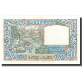 France, 20 Francs, Science et Travail, 1940, 1940-07-11, UNC(63), Fayette:12.04