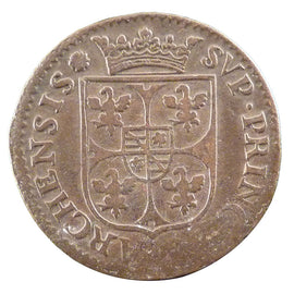 Coin, FRENCH STATES, NEVERS & RETHEL, 2 Liard, 1611, VF(20-25), Copper