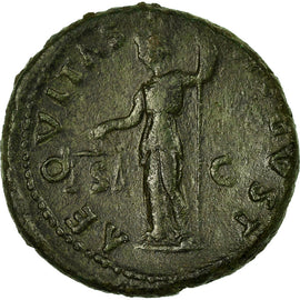 Coin, Domitia, As, Roma, EF(40-45), Bronze, RIC:929