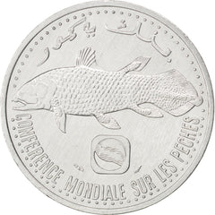 Coin, Comoros, 5 Francs, 1992, MS(63), Aluminum, KM:15