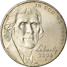 Coin, United States, 5 Cents, 2006, Philadelphia, MS(63), Nickel, KM:381