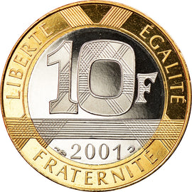 Coin, France, Génie, 10 Francs, 2001, Paris, Proof, MS(65-70), Aluminum-Bronze
