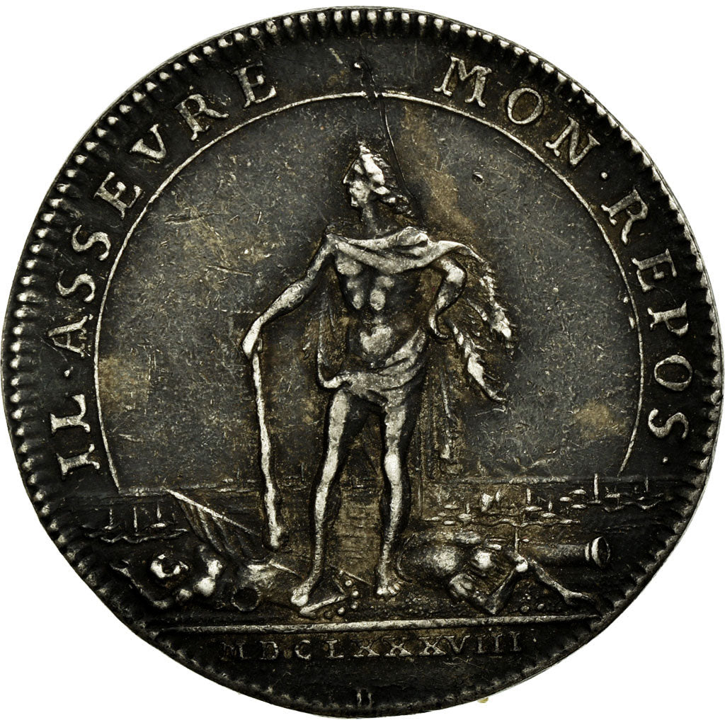France, Token, Royal, 1688, AU(50-53), Silver, Feuardent:9820