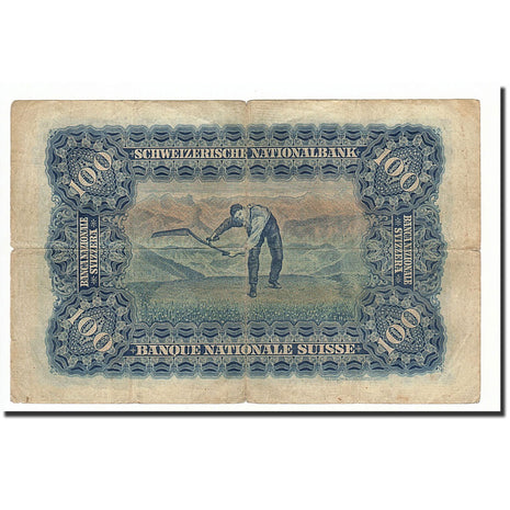 Switzerland, 100 Franken, 1924-49, 1924-04-01, KM:35a, VG(8-10)