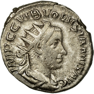 Coin, Volusian, Antoninianus, Roma, EF(40-45), Billon, Cohen:131