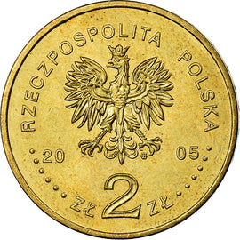 Coin, Poland, 2 Zlote, 2005, Warsaw, MS(60-62), Brass, KM:527