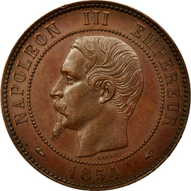 Coin, France, 10 Centimes, 1854, Paris, AU(55-58), Bronze, Gadoury:250