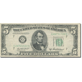 Banknote, United States, Five Dollars, 1950, KM:1821, EF(40-45)