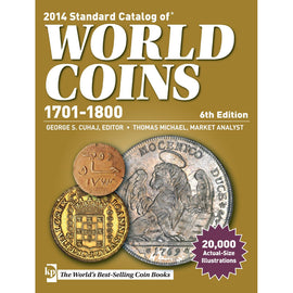 Book, Coins, World Coins, 1701-1800, 6th Edition, Safe:1842-2
