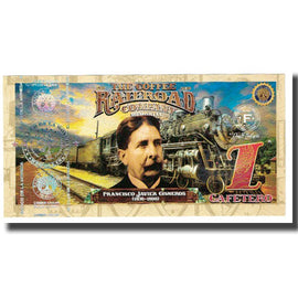Banknote, Colombia, Tourist Banknote, 1 CAFETEROS THE COFFE RAILROAD COMPANY