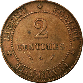 Coin, France, Cérès, 2 Centimes, 1896, Paris, VF(30-35), Bronze, KM:827.1