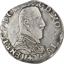 Coin, FRENCH STATES, DOMBES, Henri II de Montpensier, Teston, 1605, VF(30-35)