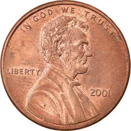 Coin, United States, Lincoln Cent, Cent, 2001, U.S. Mint, Philadelphia