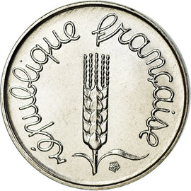 Coin, France, Épi, Centime, 1983, Paris, MS(65-70), Stainless Steel, KM:928