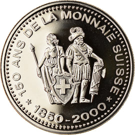 Switzerland, Medal, 150 Ans de la Monnaie Suisse, 2000, MS(63), Copper-nickel