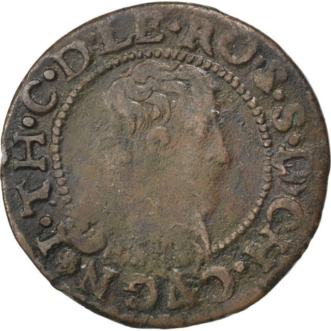 Coin, France, Double Tournois, 1634, EF(40-45), Copper, CGKL:676