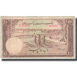 Banknote, Pakistan, 10 Rupees, Undated (1951), KM:13, VF(30-35)