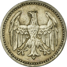 Coin, GERMANY, WEIMAR REPUBLIC, 3 Mark, 1924, Berlin, EF(40-45), Silver