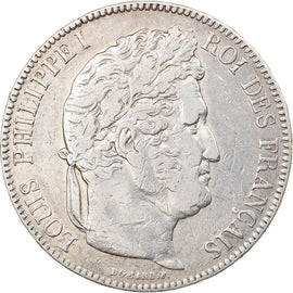 Coin, France, Louis-Philippe, 5 Francs, 1843, Rouen, EF(40-45), Silver