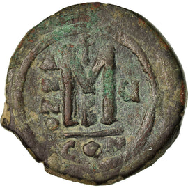 Coin, Maurice Tiberius, Follis, 586-587, Constantinople, EF(40-45), Copper