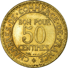 Coin, France, Chambre de commerce, 50 Centimes, 1921, AU(55-58)