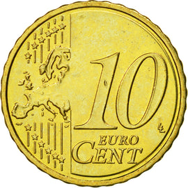Cyprus, 10 Euro Cent, 2009, MS(65-70), Brass, KM:81