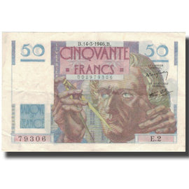 France, 50 Francs, Chateaubriand, 1946, 1946-03-14, EF(40-45), Fayette:20.1