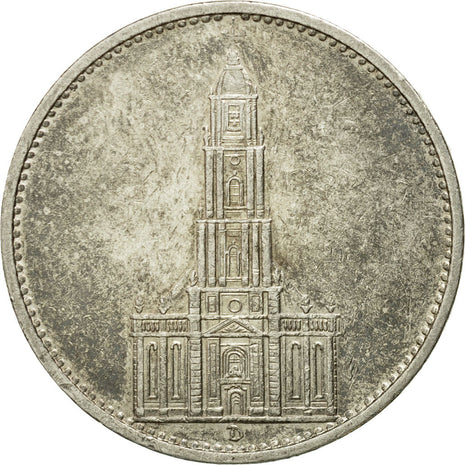 Coin, GERMANY, THIRD REICH, 5 Reichsmark, 1934, Munich, VF(20-25), Silver, KM:83