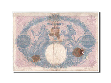France, 50 Francs Bleu et Rose, 12.03.1921, KM:64f