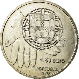 Portugal, 1-1/2 Euro, 2010, AU(55-58), Copper-nickel, KM:795