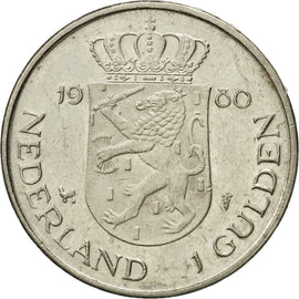 Coin, Netherlands, Beatrix, Gulden, 1980, EF(40-45), Nickel, KM:200