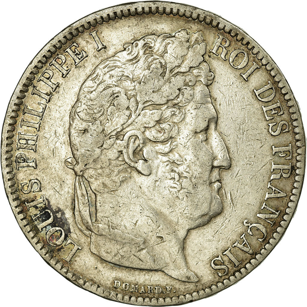 Coin, France, Louis-Philippe, 5 Francs, 1831, Bordeaux, EF(40-45), Silver