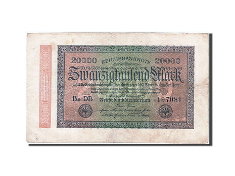 Germany, 20,000 Mark, 1923, KM #85a, 1923-02-20, EF(40-45), DB 197081