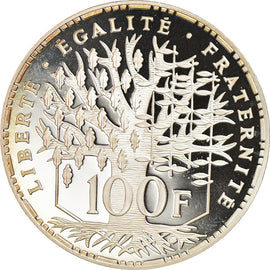 Coin, France, Panthéon, 100 Francs, 1999, Paris, Proof, MS(65-70), Silver