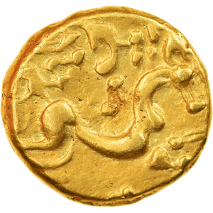 Coin, Ambiani, Stater, 1st century BC, Rare, AU(55-58), Gold, Delestrée:157