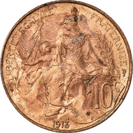 Coin, France, Dupuis, 10 Centimes, 1913, Paris, AU(55-58), Bronze, KM:843