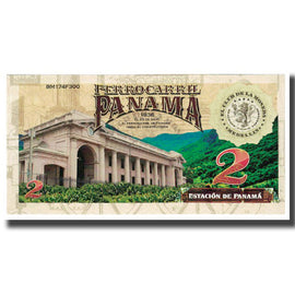 Banknote, Colombia, Tourist Banknote, 2 CAFETEROS THE COFFE RAILROAD COMPANY