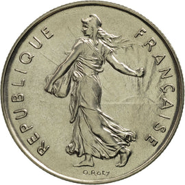 Coin, France, Semeuse, 5 Francs, 1976, Paris, MS(65-70), Nickel Clad