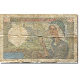 France, 50 Francs, Jacques Coeur, 1941, 1941-09-11, F(12-15), Fayette:19.14