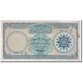 Banknote, Iraq, 1 Dinar, 1959, Undated, KM:53b, VF(30-35)