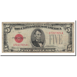 Banknote, United States, Five Dollars, 1928, KM:1644, VF(20-25)