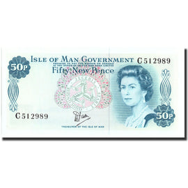 Banknote, Isle of Man, 50 New Pence, Undated, Undated, KM:33a, UNC(65-70)